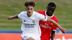 Pablo Rodríguez, durante la final de la UEFA Youth League. (Realmadrid.com)