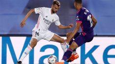 Borja Mayoral, en último partido con el Real Madrid ante el Valladolid. (Real Madrid)