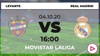 Levante-Real Madrid: horario y dónde ver online en directo el partido de fútbol Liga Santander.