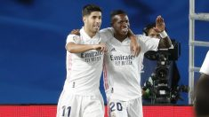 Asensio y Vinicius celebran un gol. (Getty)