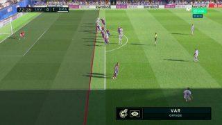 Gol anulado a Sergio Ramos por fuera de juego. (captura de pantalla)