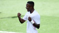 Vinicius celebra un gol.(AFP)