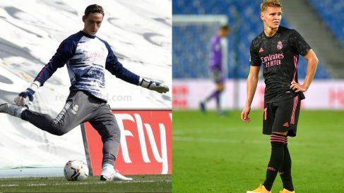 Ödegaard y Lunin, únicos 'fichajes' del Real Madrid este verano.