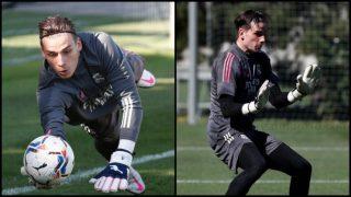 Lunin, durante un entrenamiento del Real Madrid. (realmadrid.com)