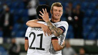 Toni Kroos, en un partido con Alemania. (AFP)