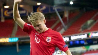 Martin Ödegaard, durante un partido de Noruega (Getty).