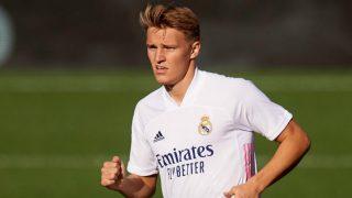 Martin Ödegaard durante un partido con el Real Madrid. (realmadrid.com)