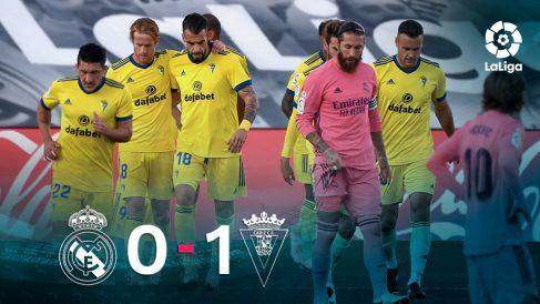 El Cádiz se impuso 0-1 al Real Madrid en Valdebebas.