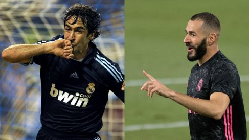 Karim Benzema está a siete goles de superar a Raúl en Champions League.