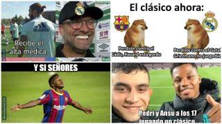 Los mejores memes del Clásico Barcelona-Real Madrid.