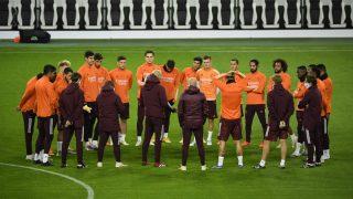 El Real Madrid durante un entrenamiento. (AFP)