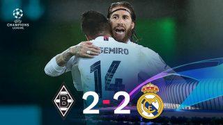El Real Madrid se salvó en el descuento de una derrota dolorosa en Alemania.