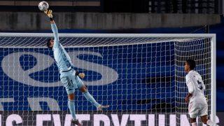 Thibaut Courtois durante el partido ante el Valladolid (Realmadrid.com).