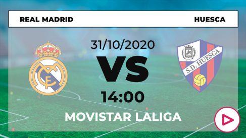 Liga Santander 2020-2021: Real Madrid – Huesca  Horario del partido de fútbol de la Liga Santander.