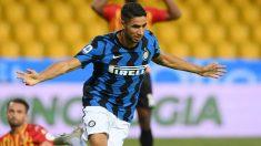Achraf celebra un gol con el Inter de Milán. (Getty)