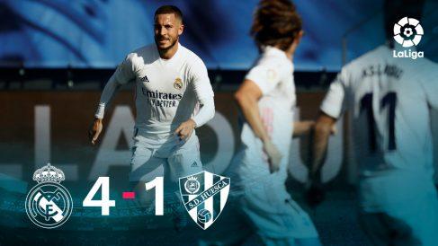 El Real Madrid ganó 4-1 al Huesca con un golazo de Hazard.
