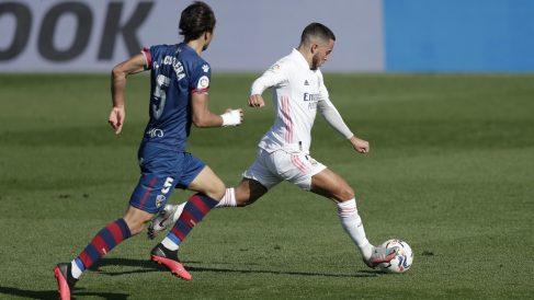 Hazard, en un partido ante el Huesca. (Getty)