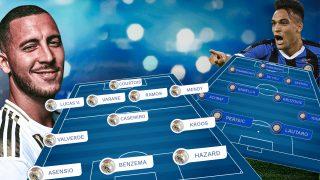 El Real Madrid recibe al Inter en duelo de Champions.