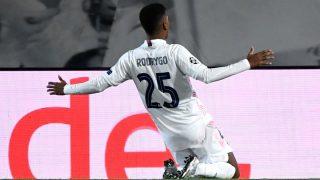 Rodrygo salvó al Real Madrid. (AFP)