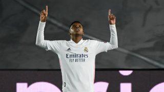Rodrygo Goes celebra el gol marcado al Inter de Milán (AFP).