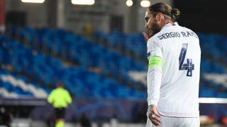 Sergio Ramos celebra su gol. (AFP)