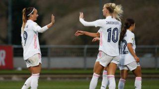 Asllani y Jakobsson celebran un gol. (Real Madrid)