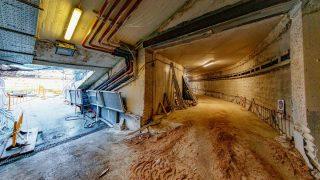 Imagen del nuevo túnel logístico del Bernabéu. (Foto: Helios de la Rubia)