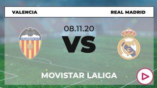 Valencia – Real Madrid: hora y ver online en directo por TV el partido de fútbol de Liga Santander hoy