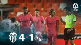 El Real Madrid cayó 4-1 ante el Valencia.