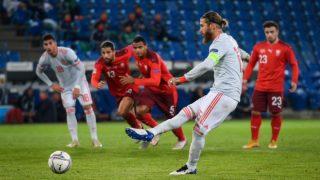 Sergio Ramos, en el partido contra Suiza. (UEFA)