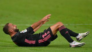 Dani Carvajal, durante un partido del Real Madrid (AFP).