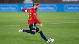 Sergio Ramos, en un partido con España.