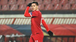 Jovic, en el partido ante Rusia. (AFP)
