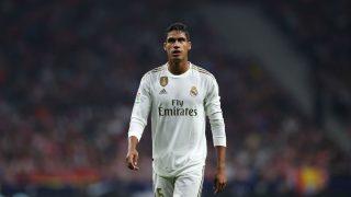 Raphael Varane, durante un encuentro con el Real Madrid. (Getty)