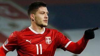 Luka Jovic, en su doblete contra Rusia.