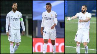 Zidane pierde a su columna vertebral contra el Villarreal. (AFP)