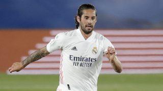 Isco, durante un partido con el Real Madrid (Getty)