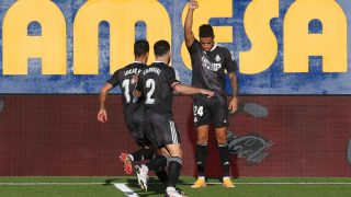 Mariano celebra su gol ante el Villarreal. (Getty)