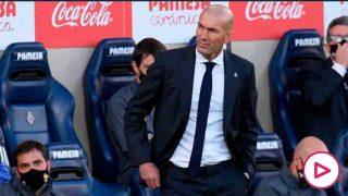 Zidane, durante un partido del Real Madrid. (Getty)