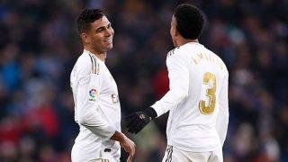 Casemiro y Militao durante un partido con el Real Madrid. (realmadrid.com)