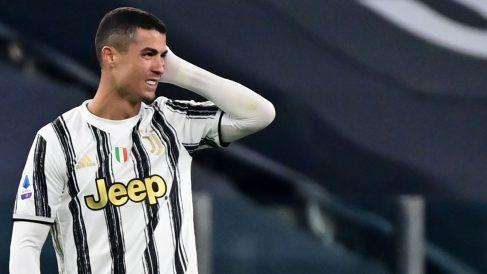Cristiano Ronaldo, durante un encuentro con la Juventus (AFP)