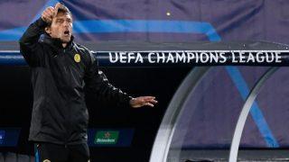 Conte, durante un partido de Champions. (AFP)