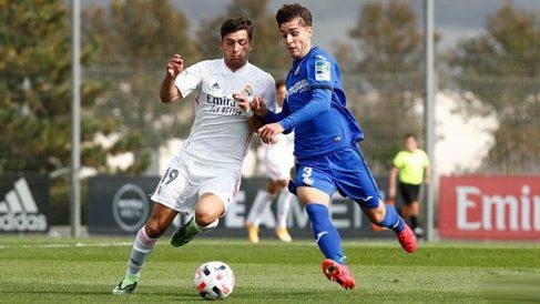 Hugo Duro, en un partido con el Castilla.