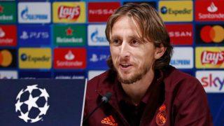 Modric, durante la rueda de prensa. (realmadrid.com)