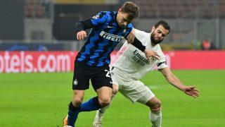 Nacho Fernández, durante el partido ante el Inter de Milán (AFP):