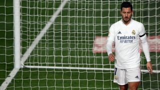 Hazard se retiró lesionado en el Real Madrid-Alavés. (AFP)