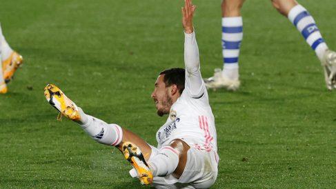 Hazard, en el partido contra el Alavés. (EFE)