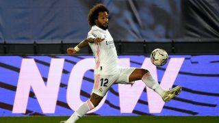 Marcelo, durante el partido contra el Alavés (AFP).
