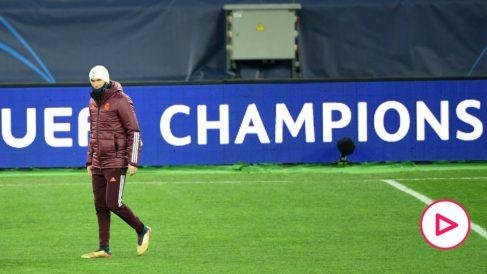 Zidane, durante un entrenamiento. (AFP)