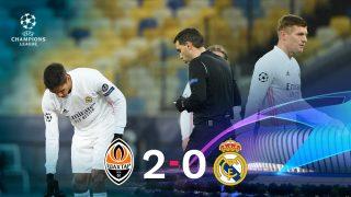 El Real Madrid cayó 2-0 ante el Shakhtar en Kiev.